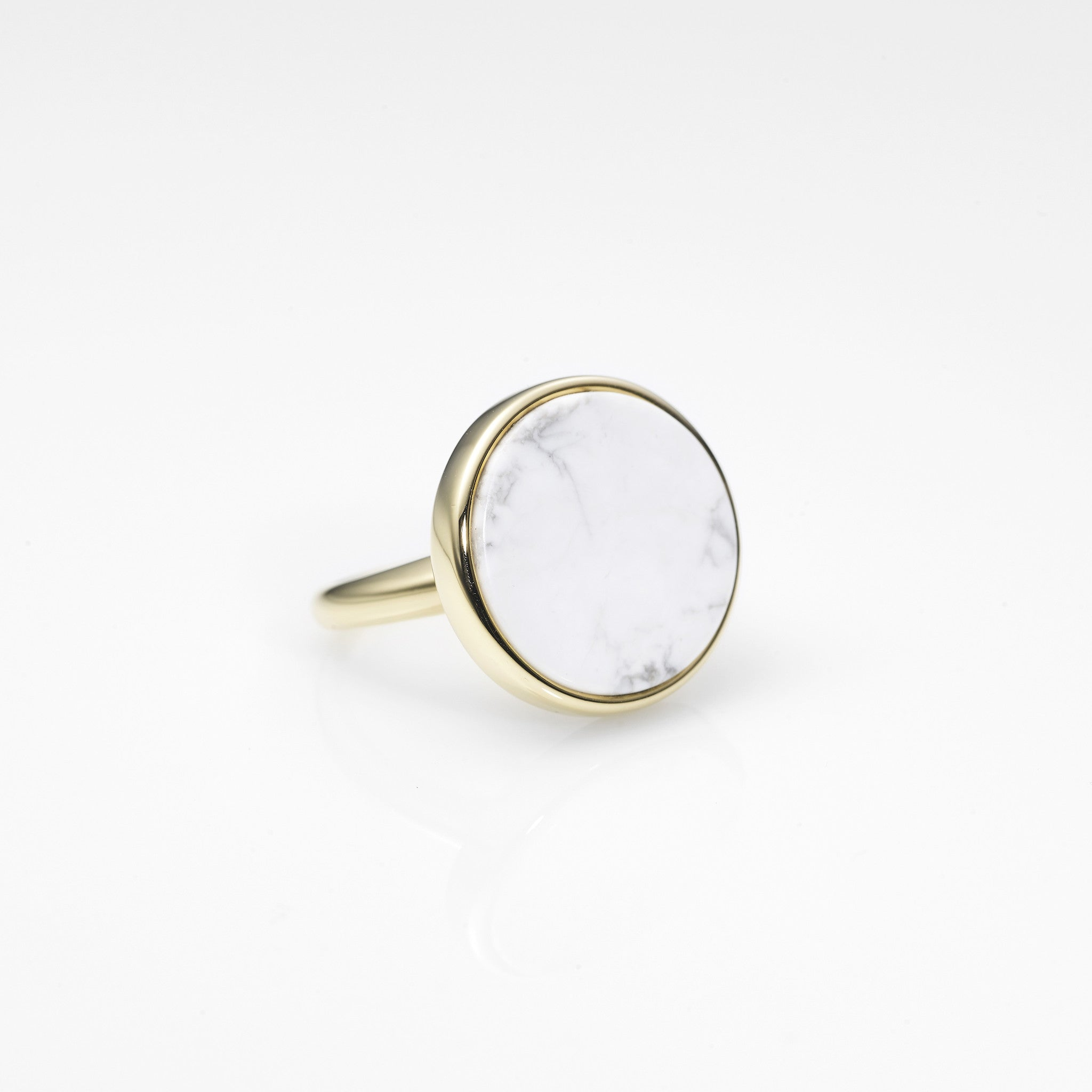 Moon Surface Ring-WHITE
