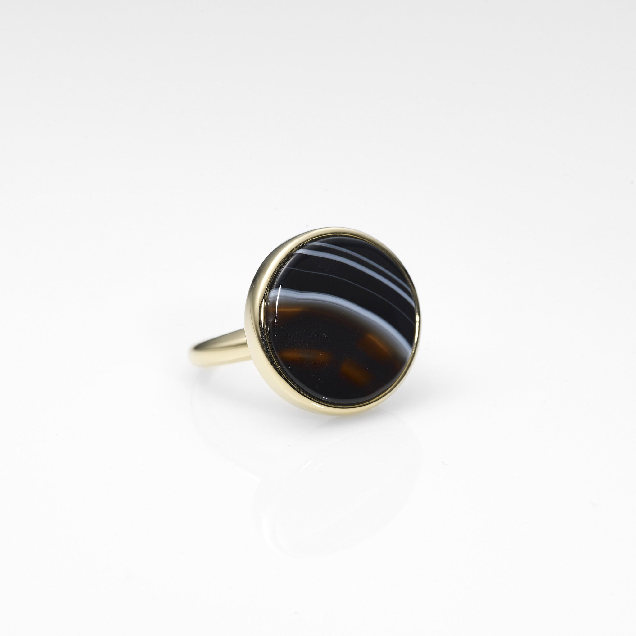 Moon Surface Ring-BLACK