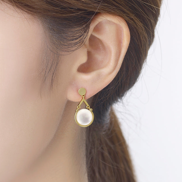 Moon Light MOP Drop Earring