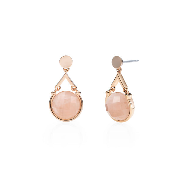Pink Quartz Drop Earring