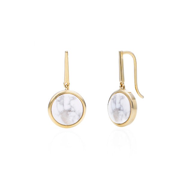 Full Moon Drop Earring