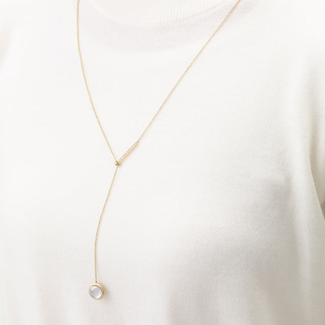 Moon Light MOP Slide Necklace