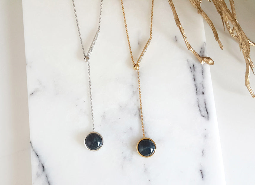 Obsidian Slide Necklace