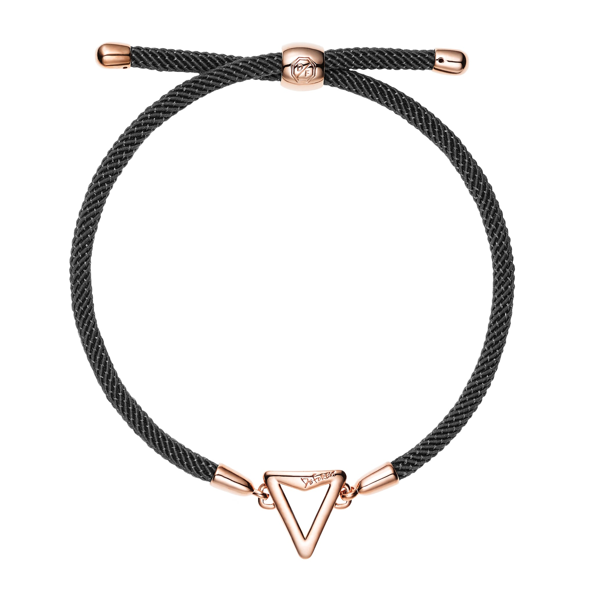 Arrow Friendship Slide Bracelet-Black