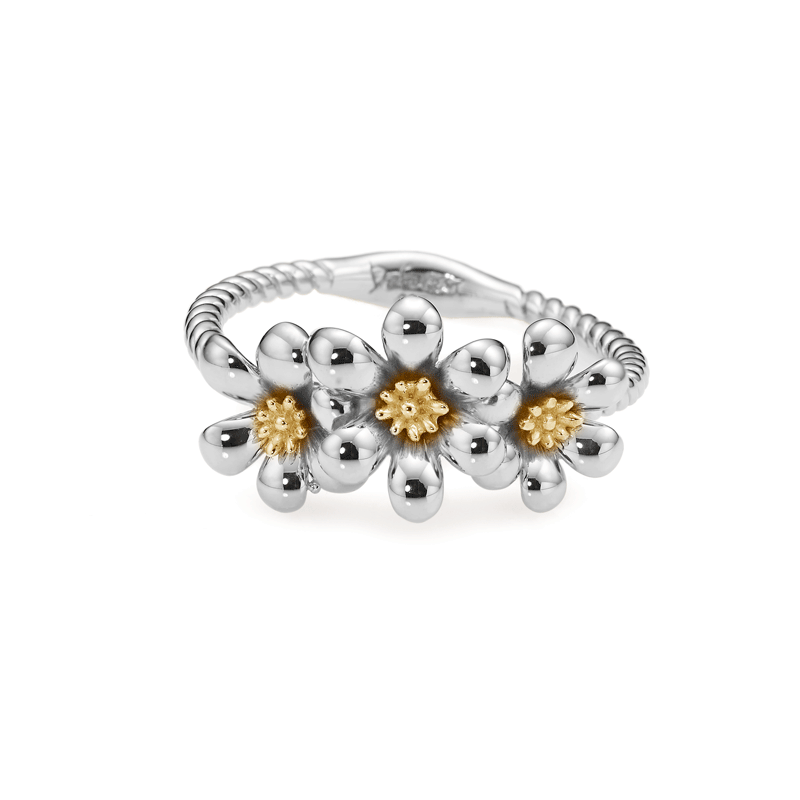 Botanical Garden Bloom Silver Ring (3 color)