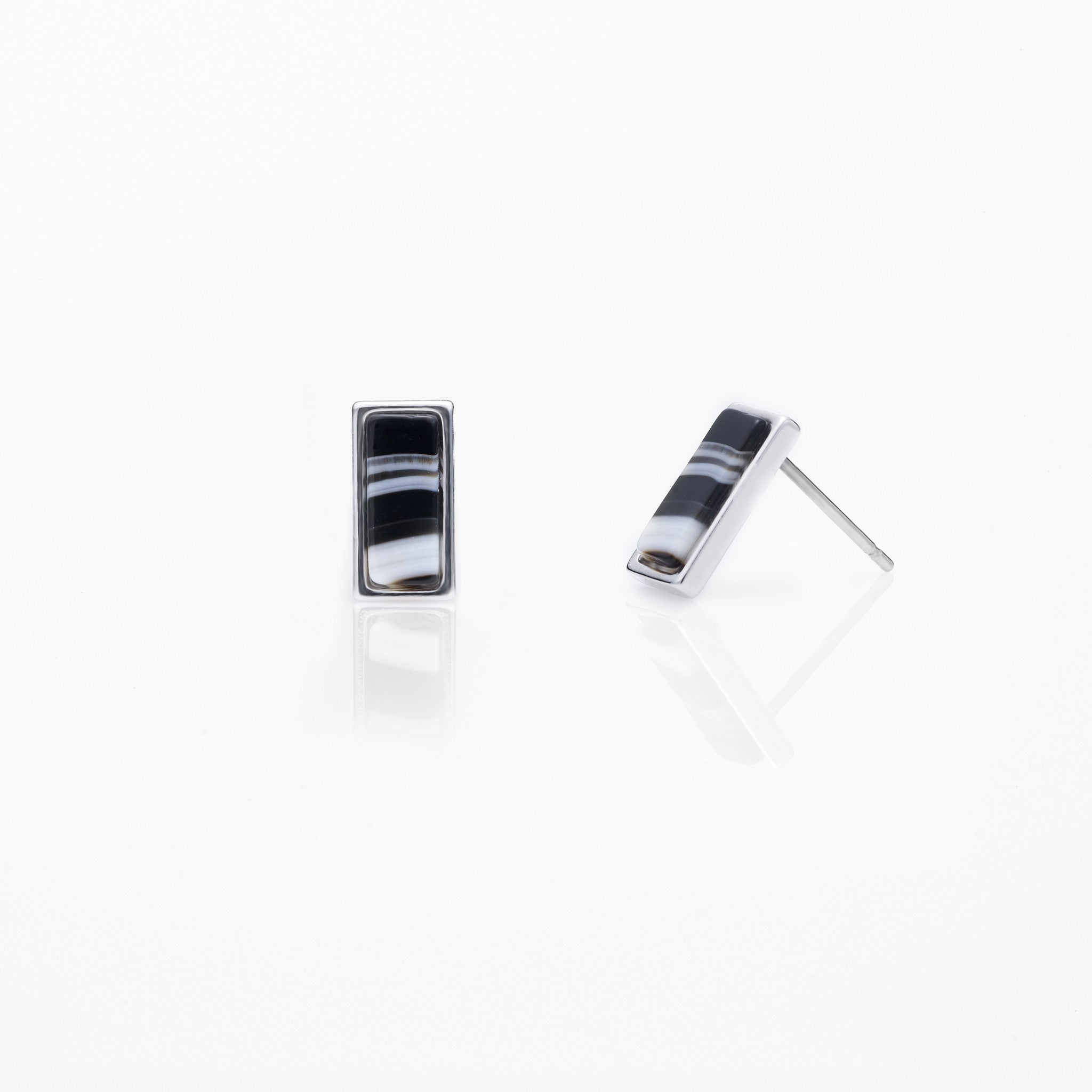 Rectangular Planet Stud Earring