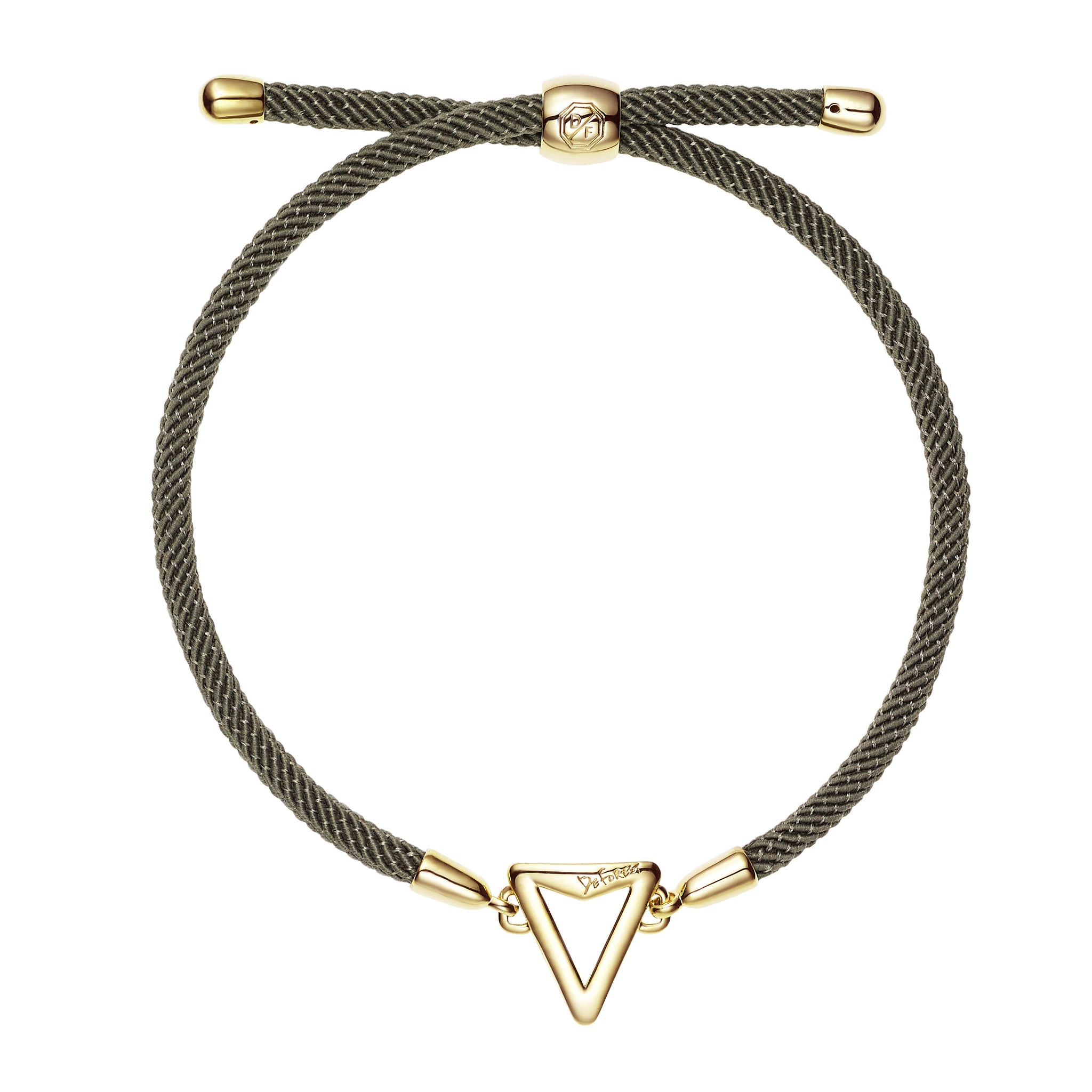 Arrow Friendship Slide Bracelet-Kaki