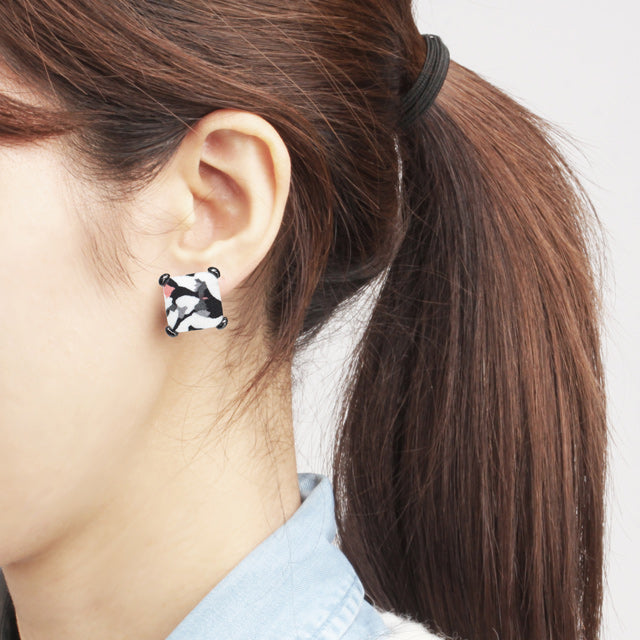 Military Button Earring