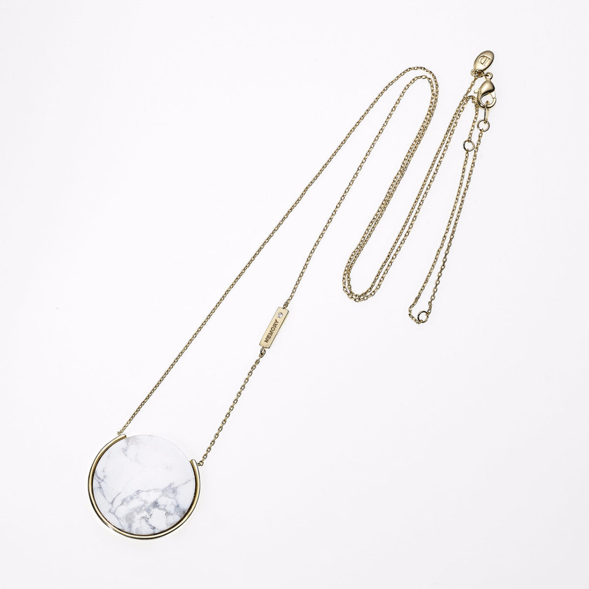 Reversible Galaxy Long Necklace-WHITE