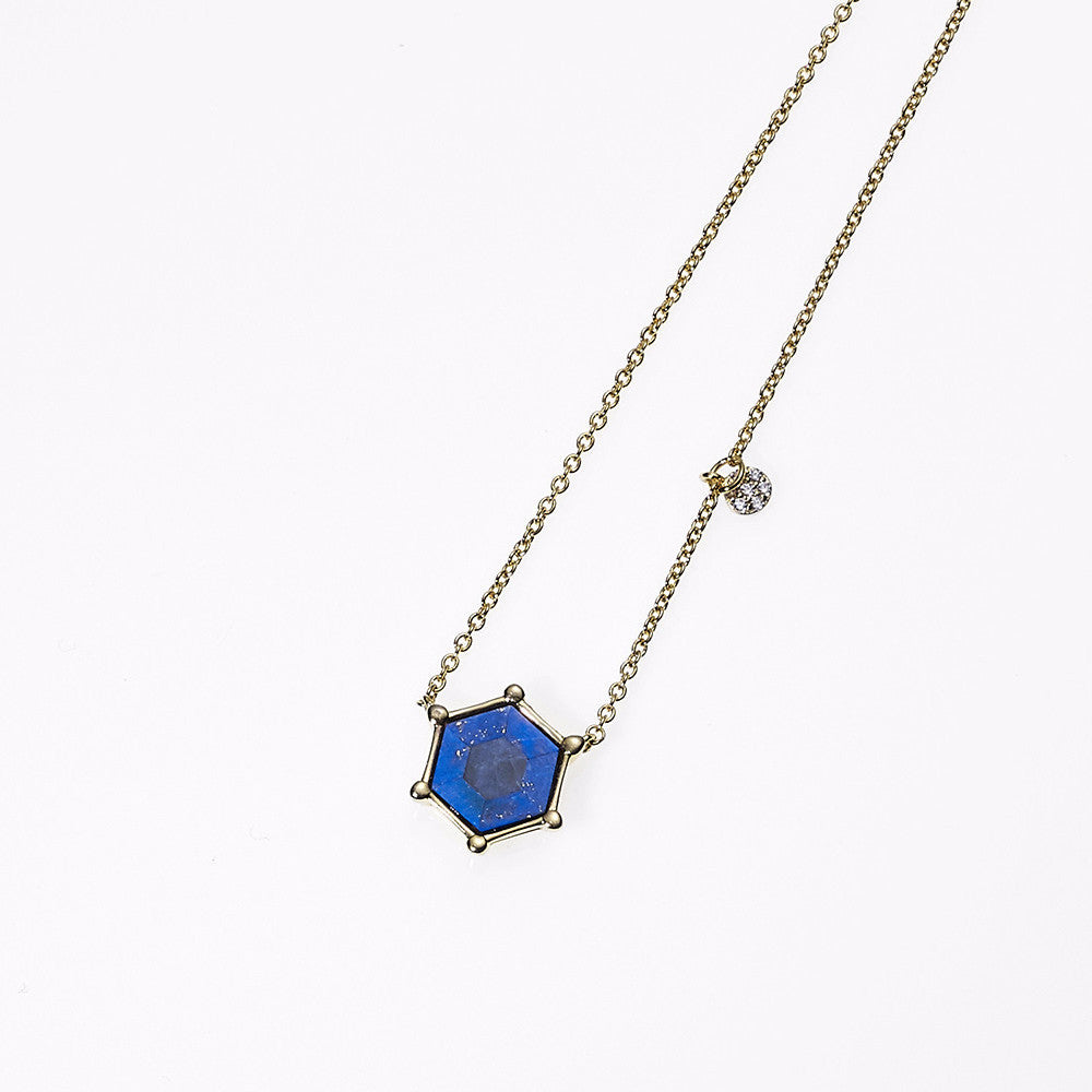 Hexagon Star Necklace-GD