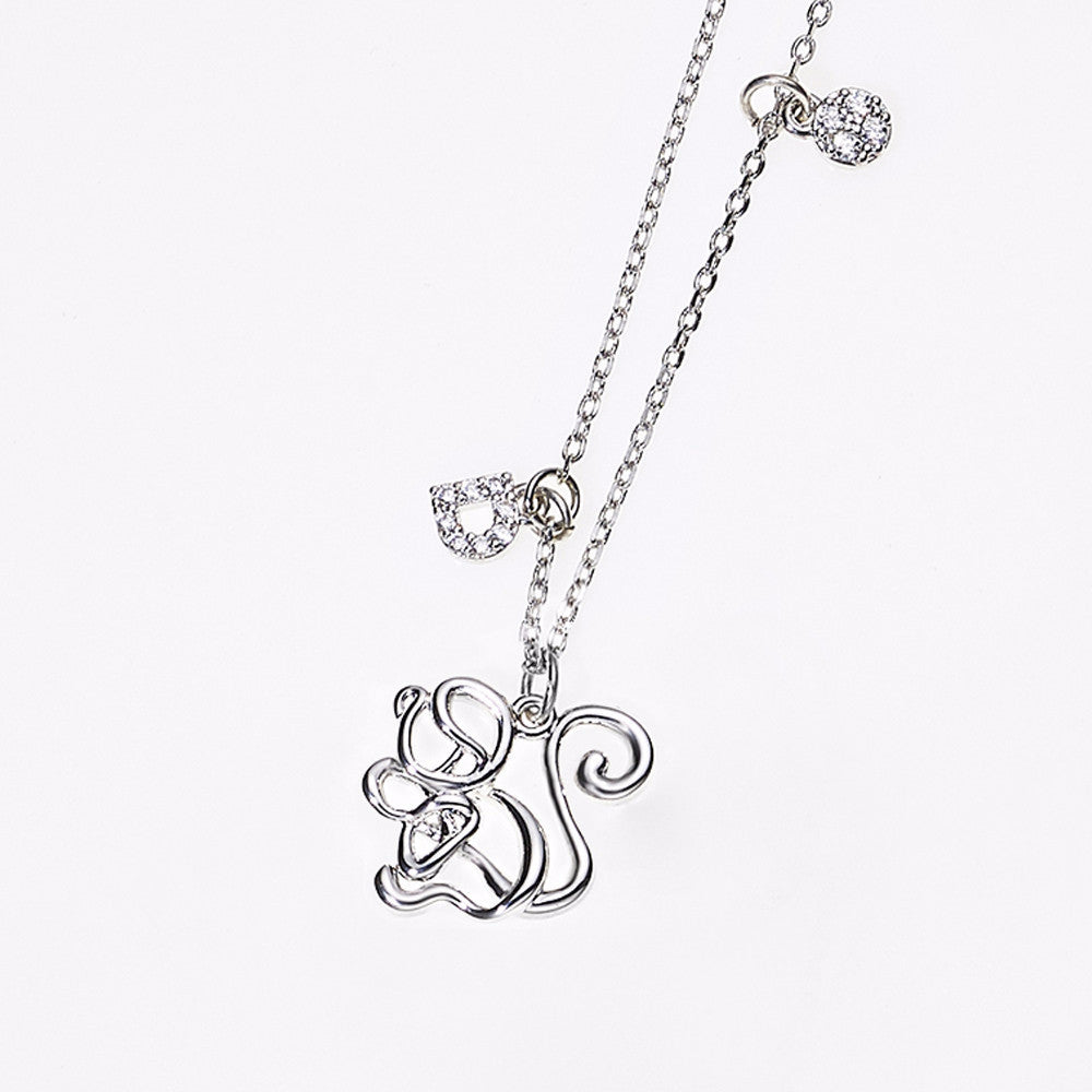 Animal Zodiac Necklace-Monkey