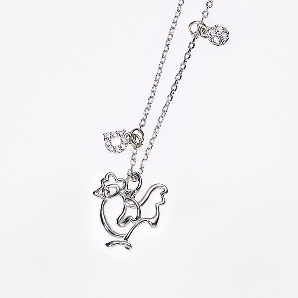 Animal Zodiac Necklace-Rooster