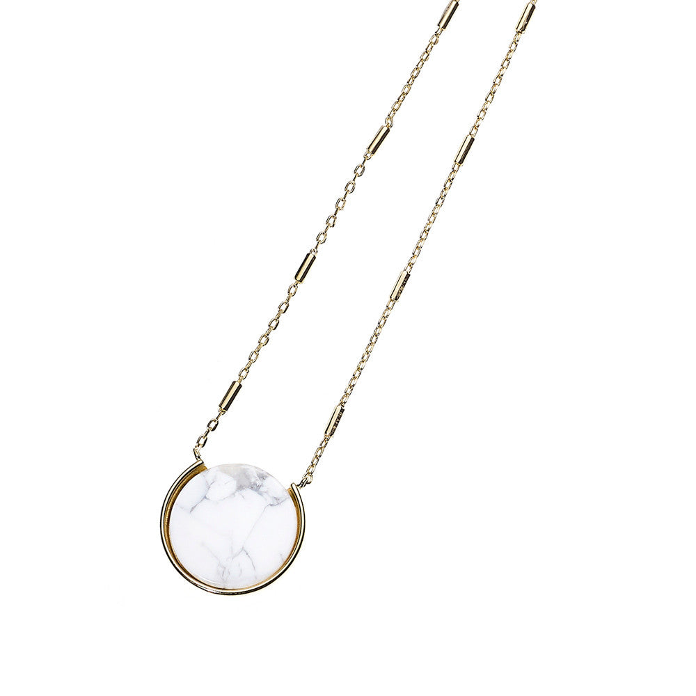 Reversible Moon Necklace-GD