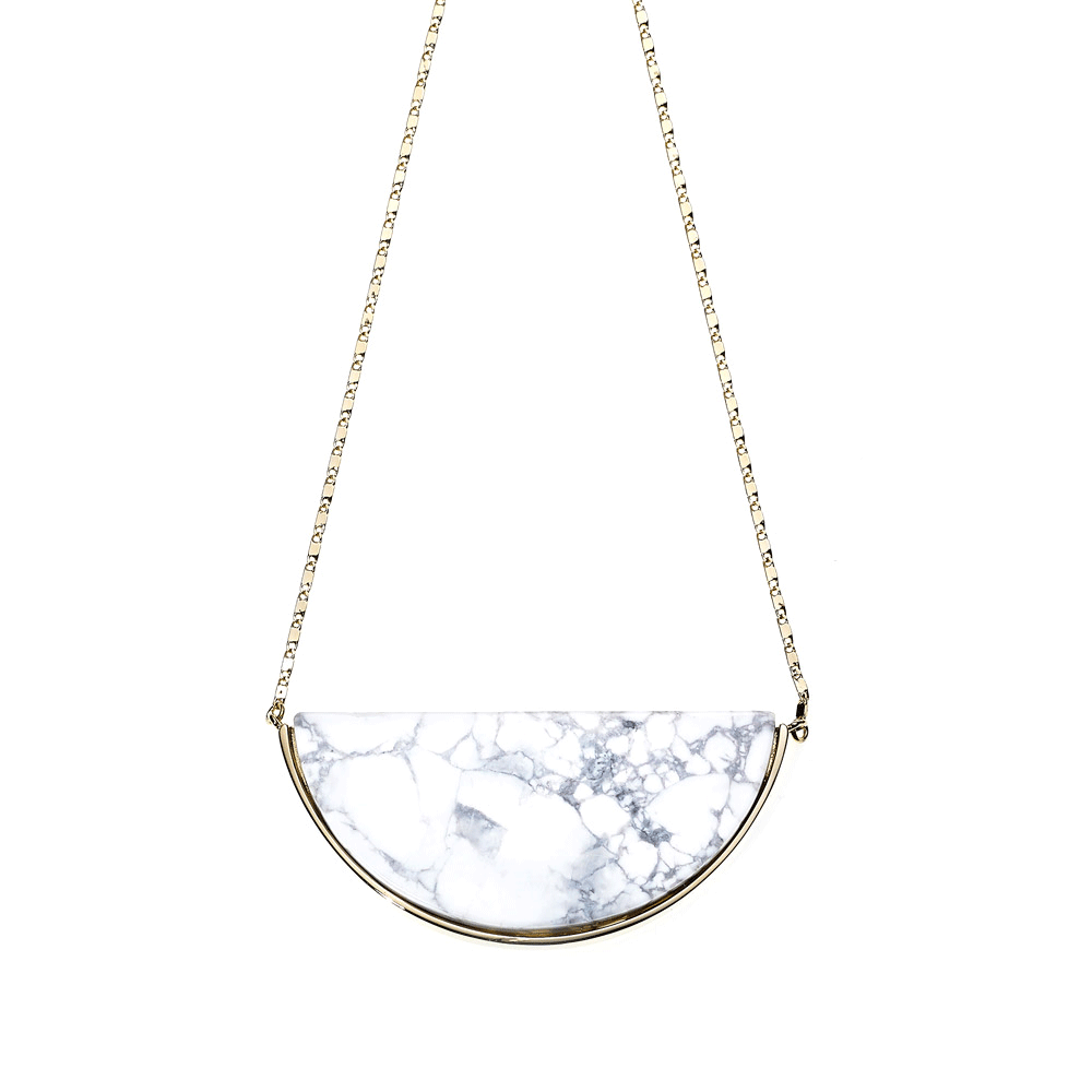Reversible Moon Rock Necklace-Howlite