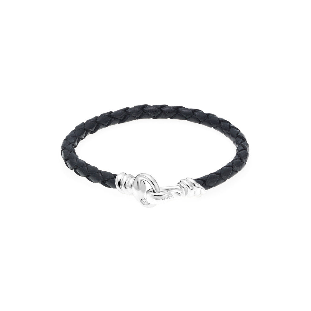 Love Hook Leather Bracelet-BLACK