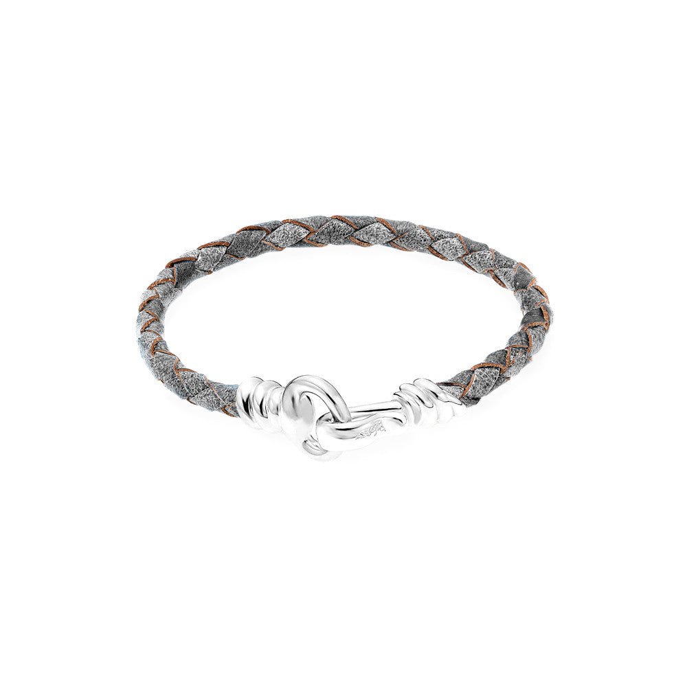 Love Hook Leather Bracelet-GRAY