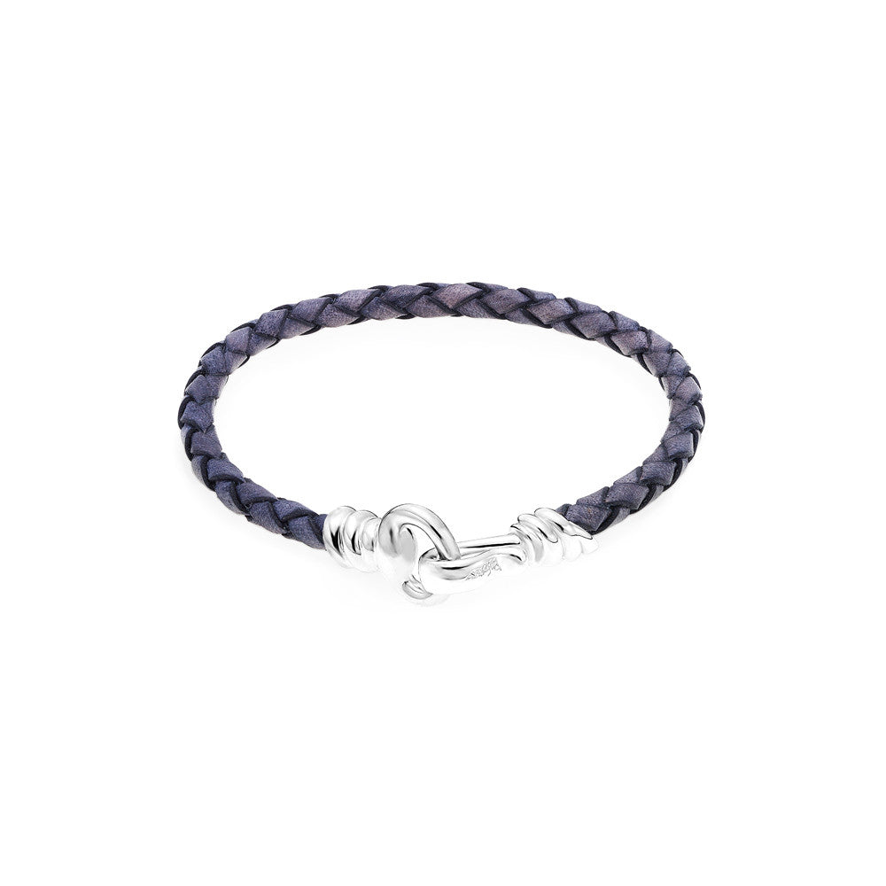 Love Hook Leather Bracelet-NAVY