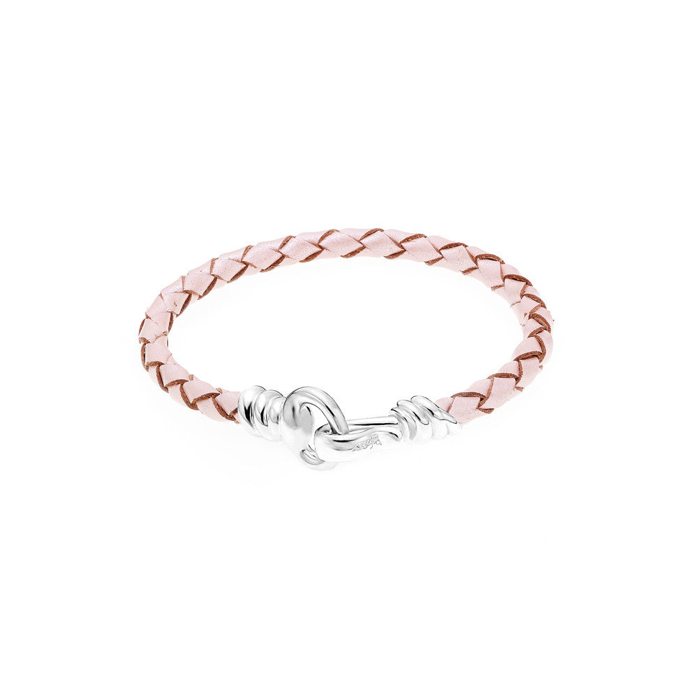 Love Hook Leather Bracelet-PINK