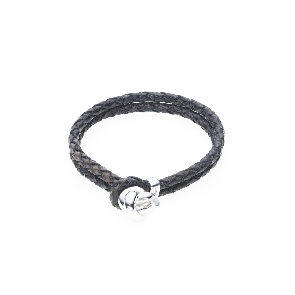 Love Knot Leather Bracelet-BLACK