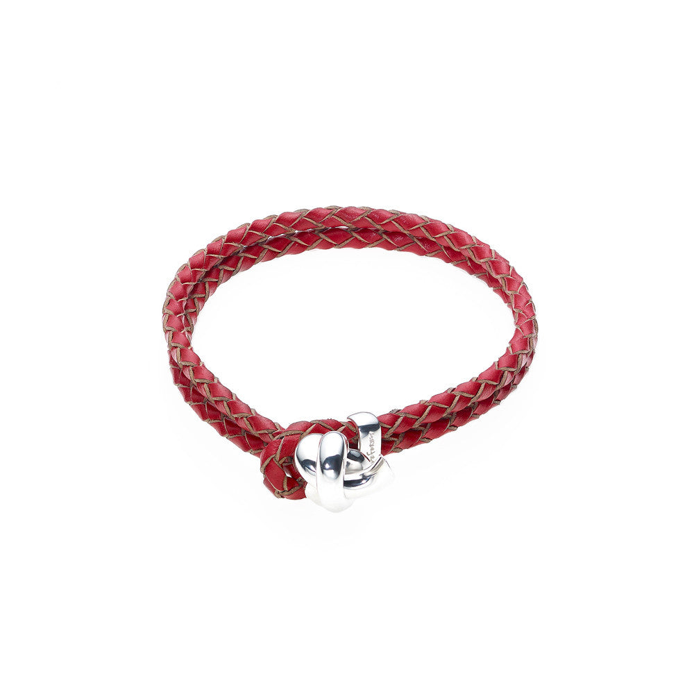 Love Knot Leather Bracelet-RED