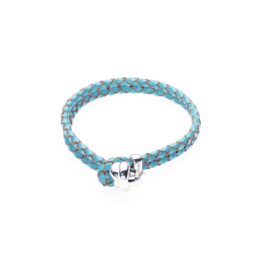 Love Knot Leather Bracelet-TURQUOISE