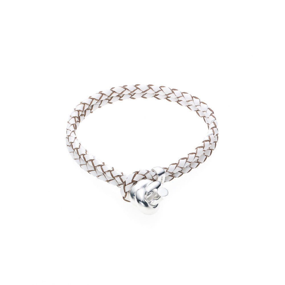 Love Knot Leather Bracelet-WHITE