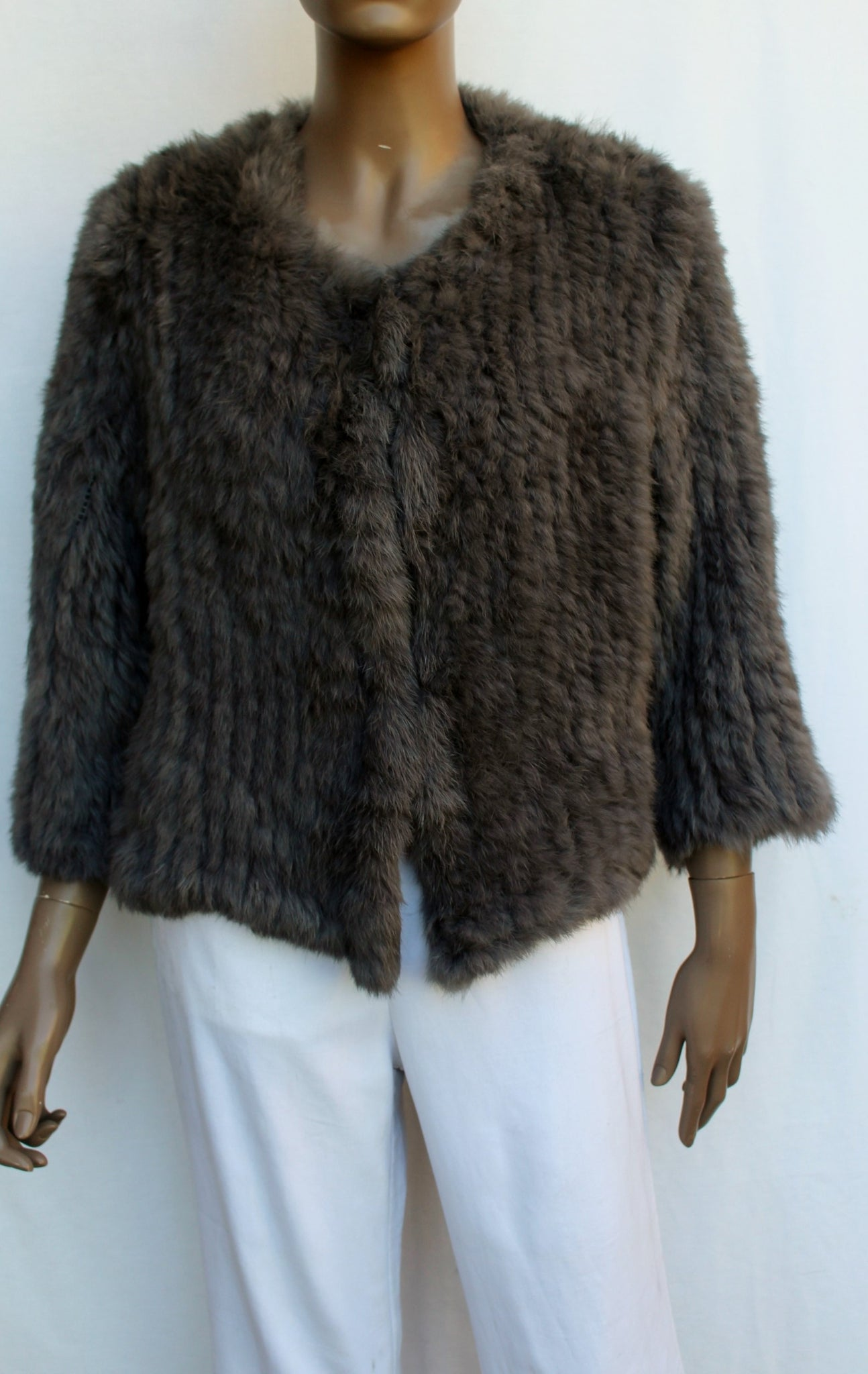 Rabbit Fur Short Jacket