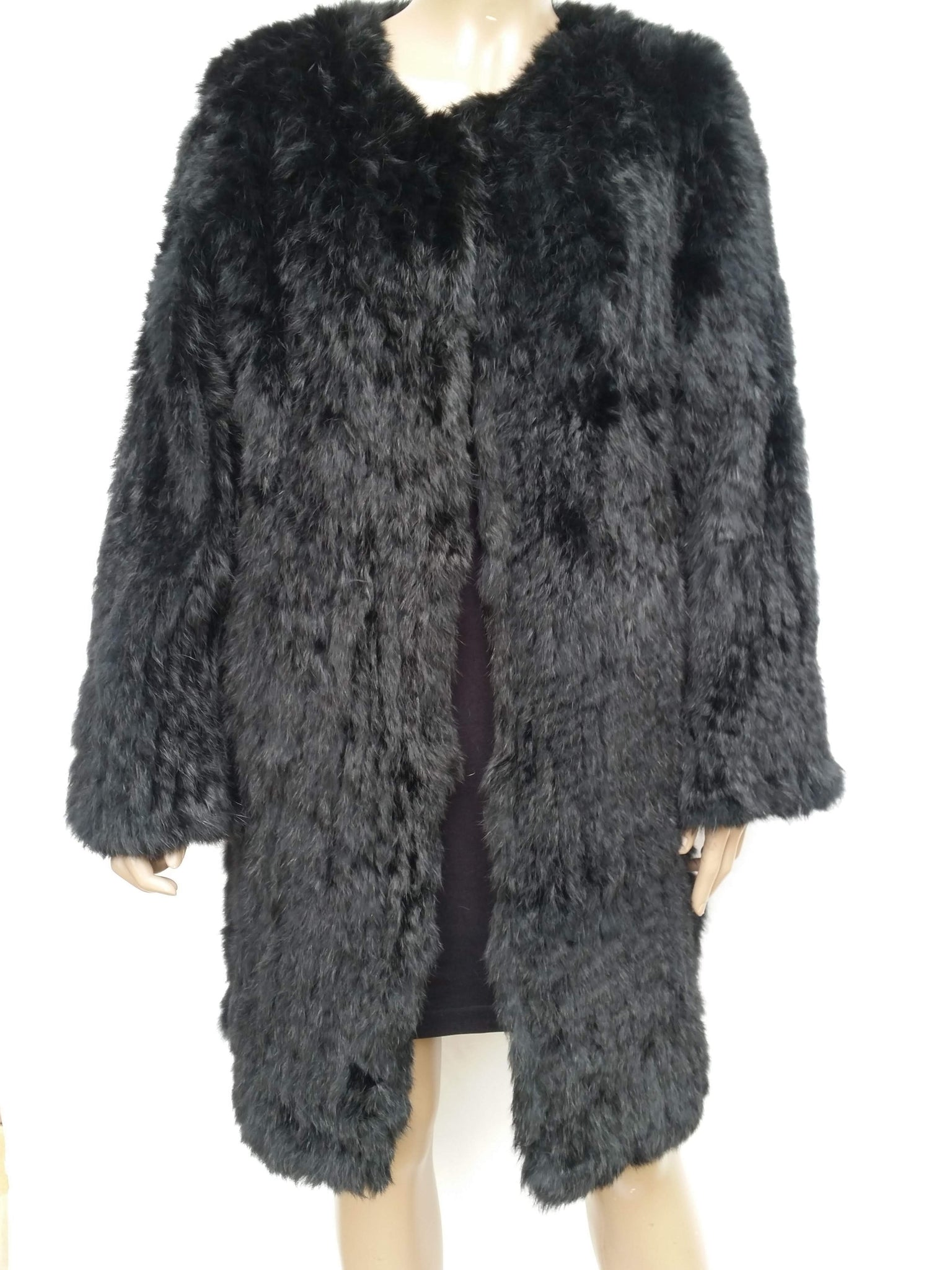 Long Rabbit Fur Coat