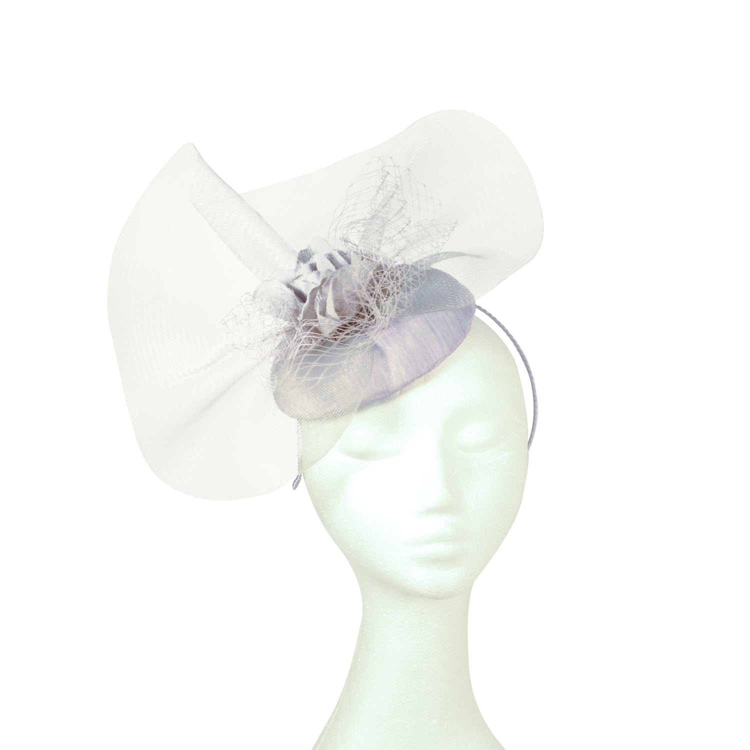 Grey crinoline detail fascinator