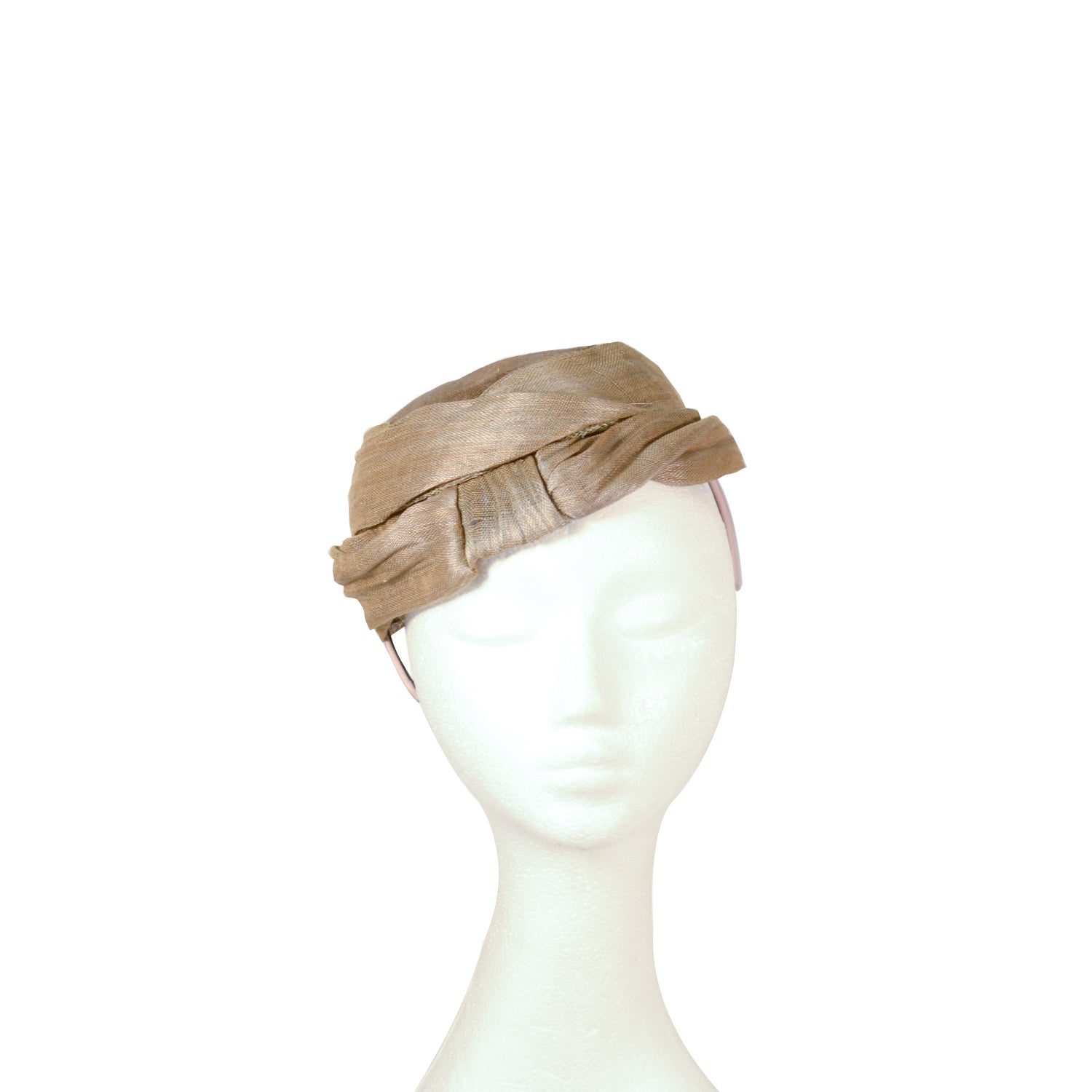 Green Khaki hat style fascinator