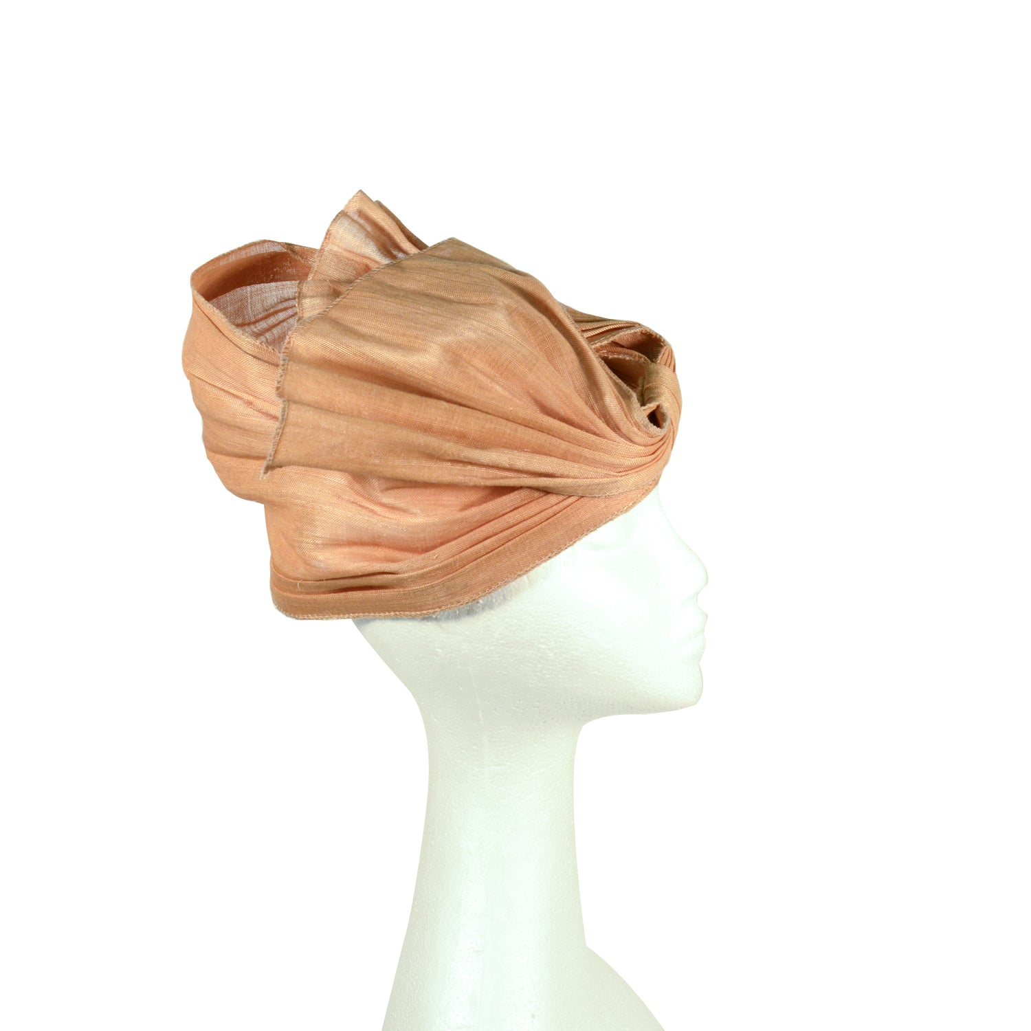 Brown Taupe turban style fascinator