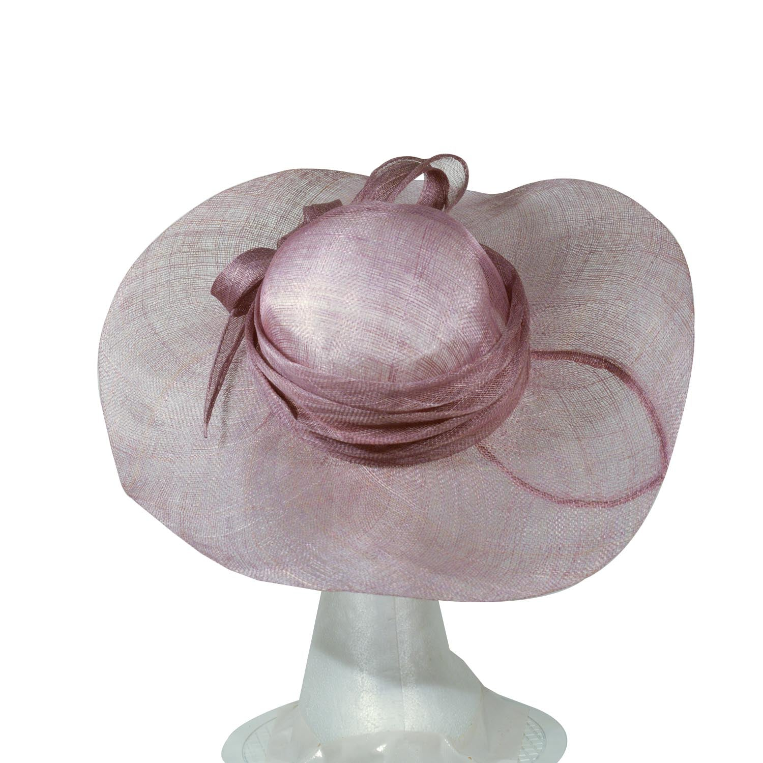 Purple pale hat large brim
