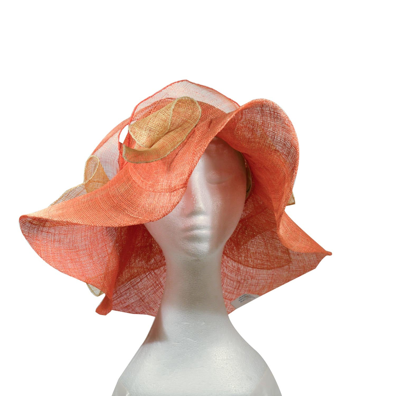 Orange and yellow Elsa Gary paris bespoke straw hat