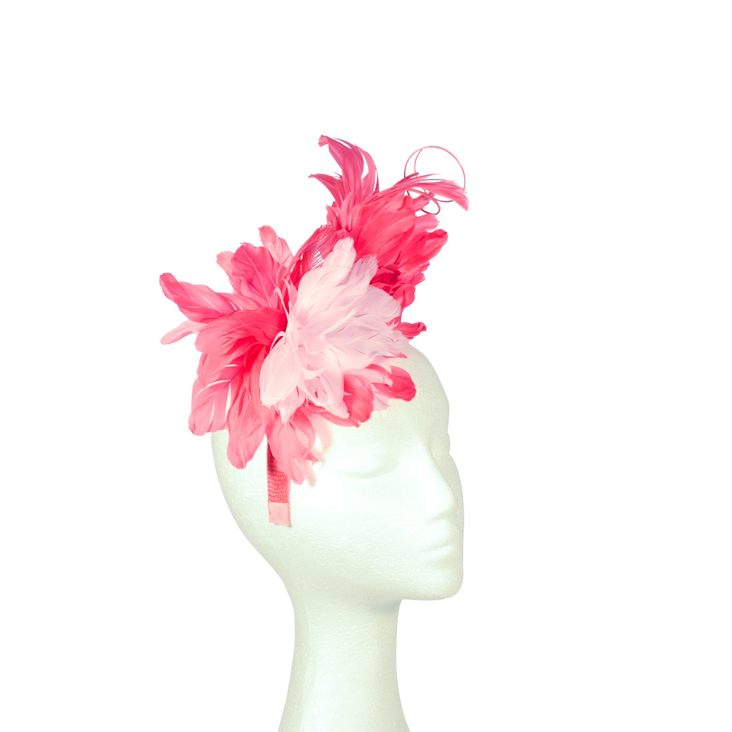 Pink Fuscia & pale pink feather flowers
