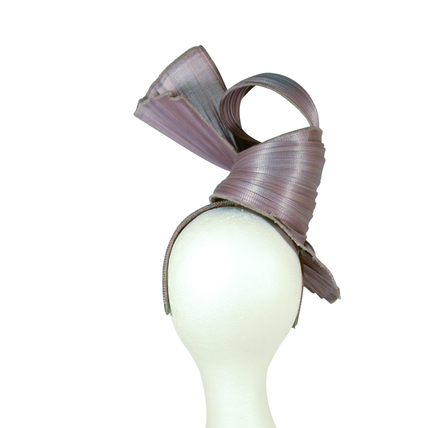 Grey tall sculptured fascinator