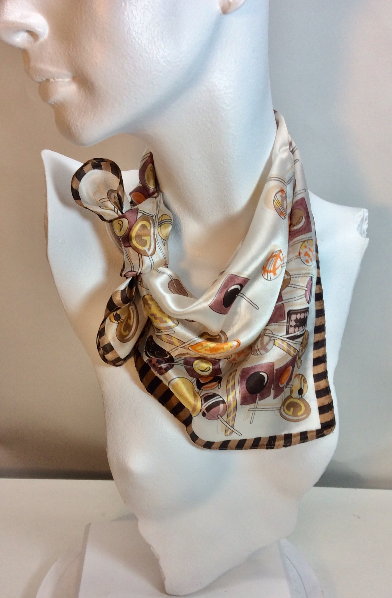 Lollipops feature on this lovely evening square scarf