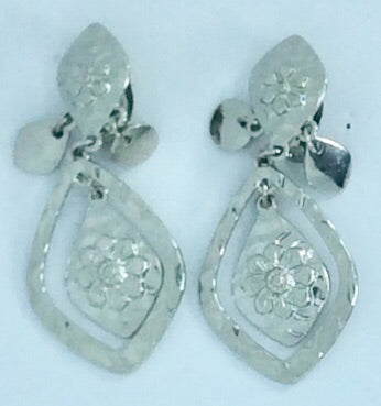 French Silver clip on earrings