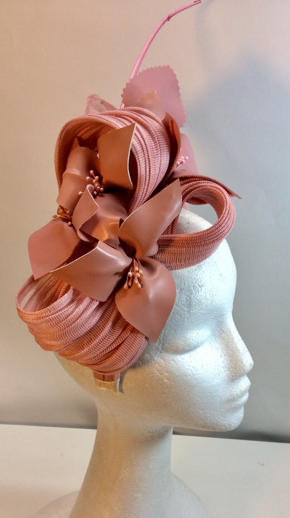 Shaded pink floral fascinator