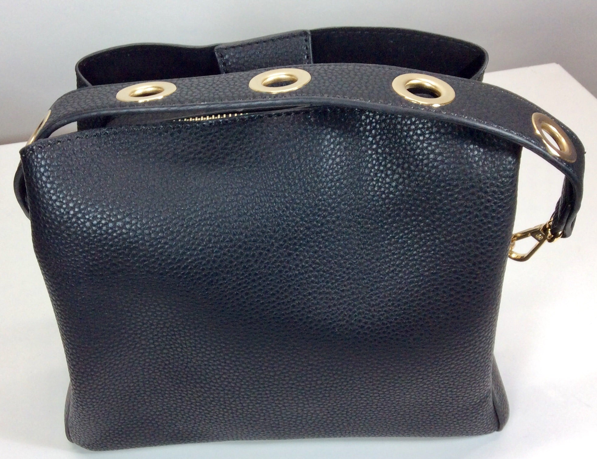 Gorgeous small black bag with short or long strap