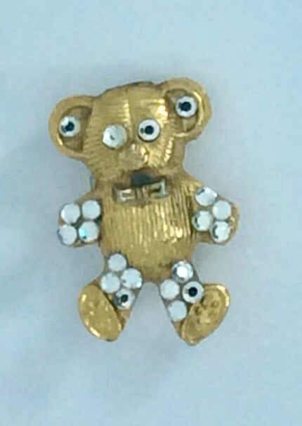 Teddy Bear with diamanté Brooch