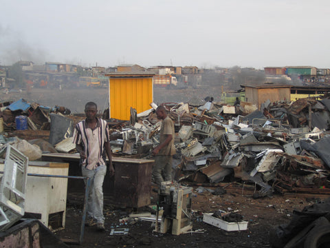 An image of Agbogbloshie Dump in Ghana, Africa.