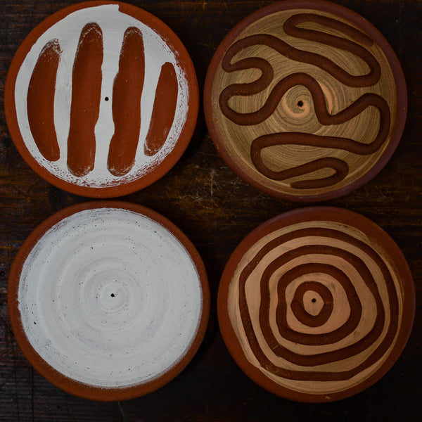 Red Clay Incense Holders