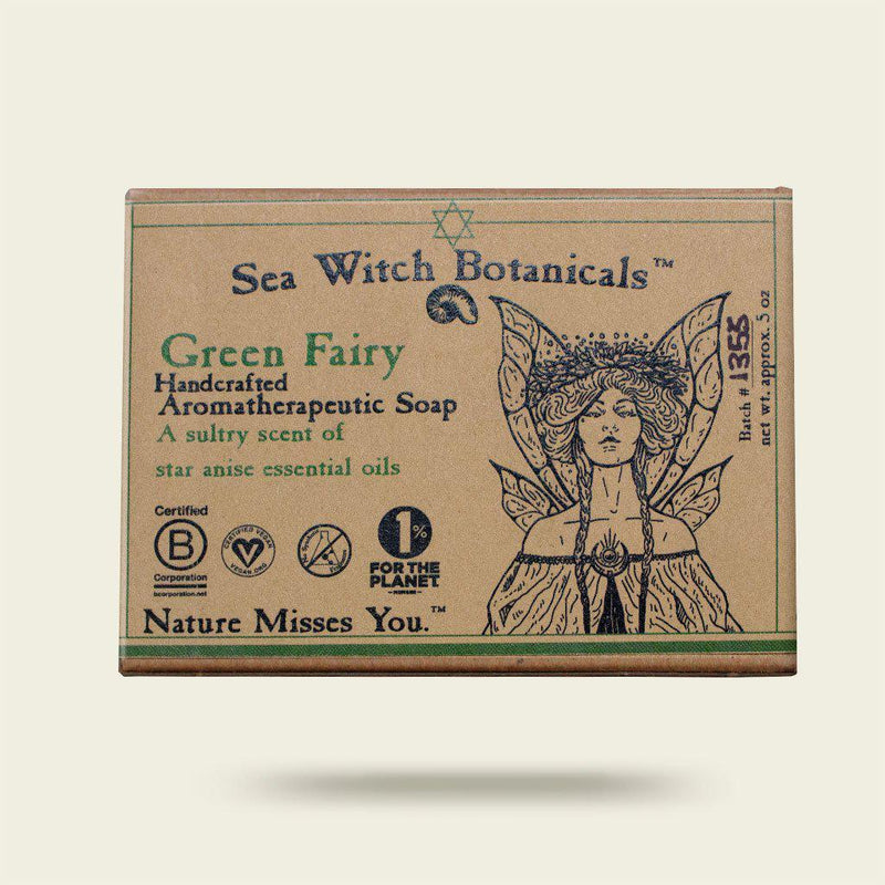 Green Fairy Cold Process Artisan Soap from Sea Witch Botanicals - Star Anise