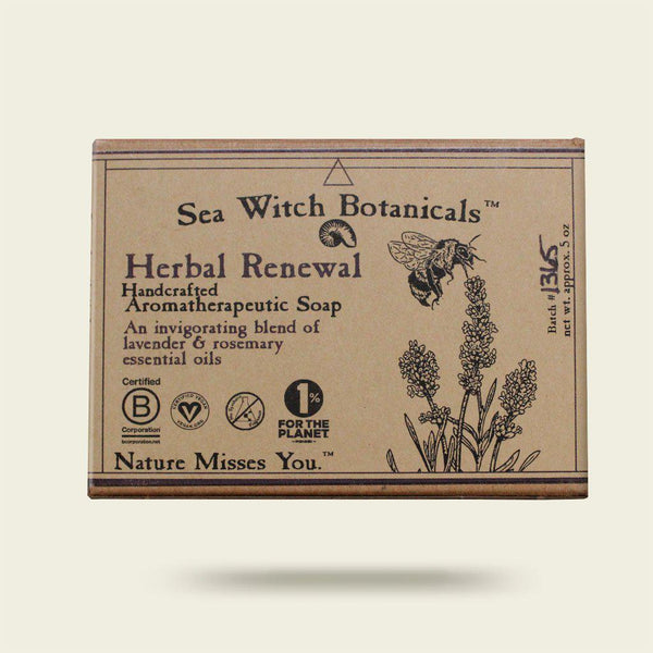 Herbal Renewal Cold Process Artisan Soap from Sea Witch Botanicals - Lavender Rosemary