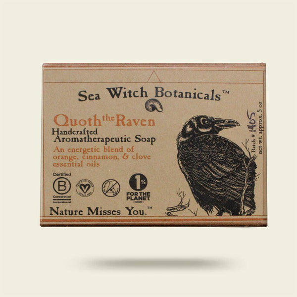 Quoth the Raven Cold Process Artisan Soap from Sea Witch Botanicals - Orange Spice