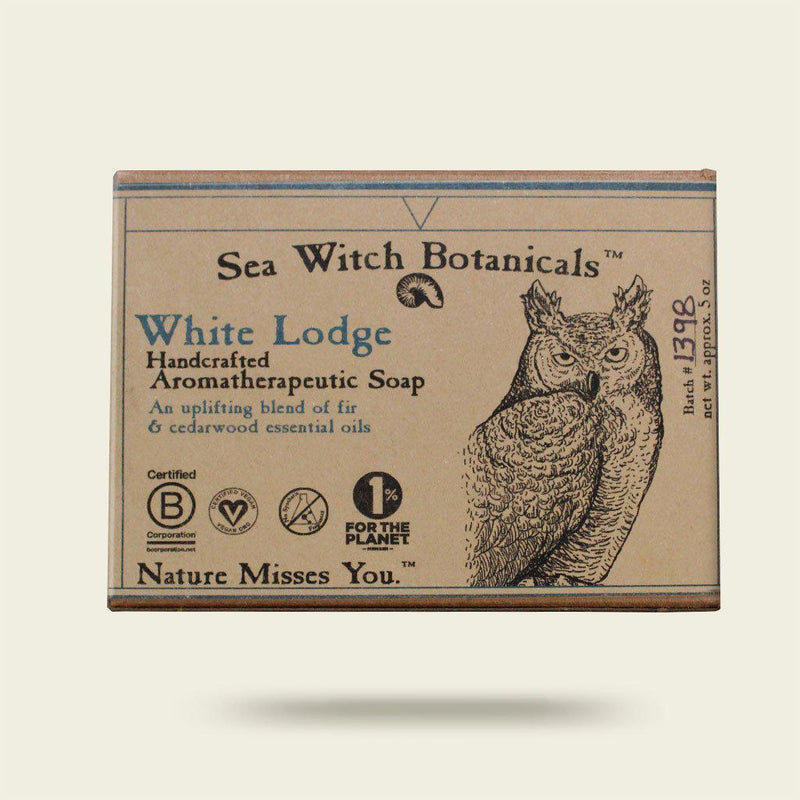 White Lodge Cold Process Artisan Soap from Sea Witch Botanicals - Fir Cedar