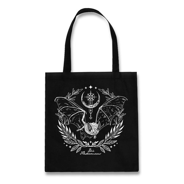Fledermaus bat black cotton tote bag