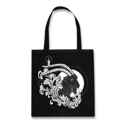 Jolbok black goat cotton tote bag