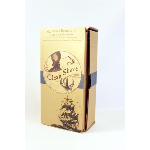 Gift Set: Clean Shave - A Men's Grooming Kit for the Dapper Gentleman-Collection-Sea Witch Botanicals