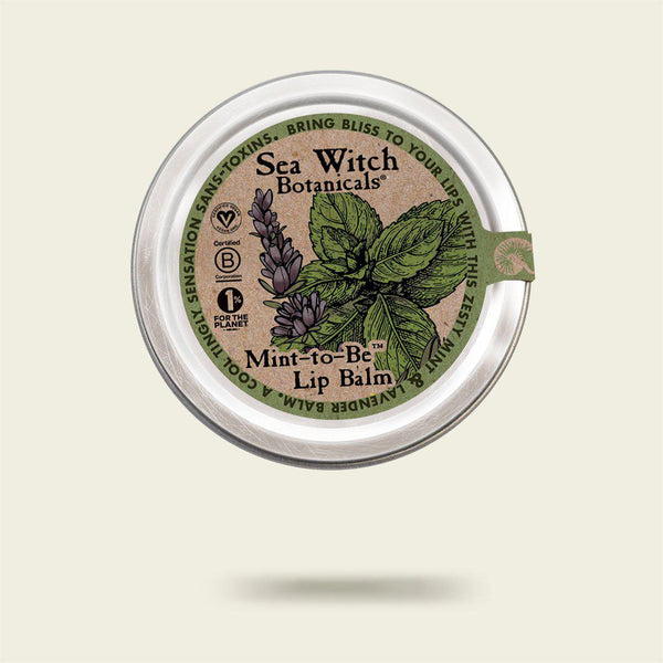 The original Mint to Be peppermint & lavender lip balm from Sea Witch Botanicals